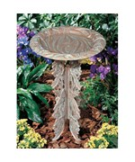 Birdbath and Pedestal - Butterfly