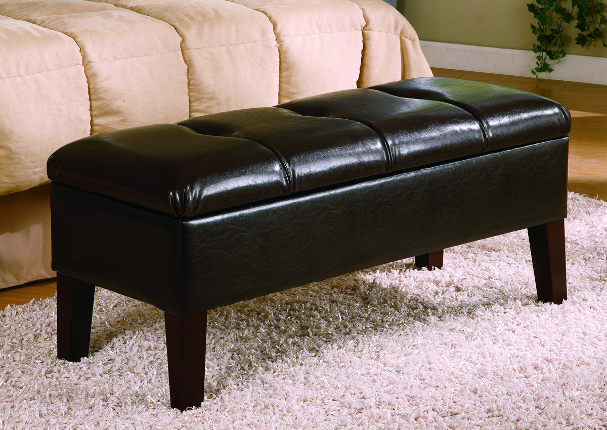 Button Tufted Bench By Coaster In Storage Benches
