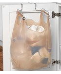 Cabinet Door Grocery Bag Holder with Towel Bar