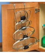 Cabinet Door Pot Lid Organizer