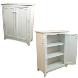 Double Door Jelly Cabinet - White in Buffet Furniture