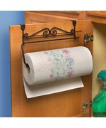 Cabinet Mounted Paper Towel Holder - Black