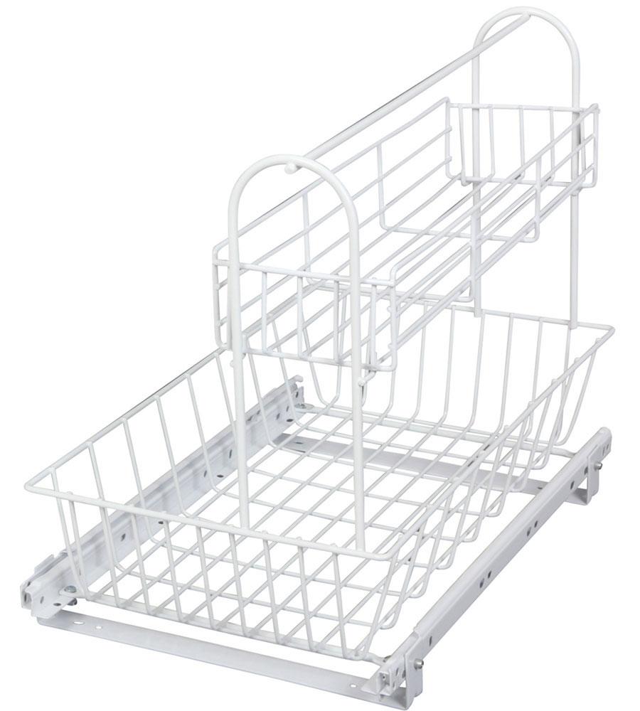 Square Sliding Cabinet Organizer · Cabinet Slide Out Basket System ...