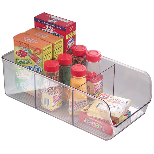 Clear Plastic Cabinet Shelf Organizer in Shelf Risers and Organizers