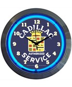 Cadillac Service Neon Clock by Neonetics