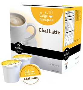 Cafe Escapes K-Cups - Chai Latte (Set of 16) Image