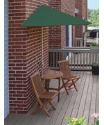 Caleo 5-Pc Patio Set with 7.5 Ft. SolarVista Off-the-Wall-Brella by Blue Star Group