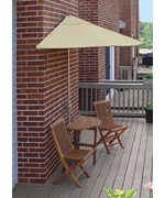 Caleo 5-Pc Patio Set with 9 Ft. Sunbrella Off-the-Wall-Brella by Blue Star Group