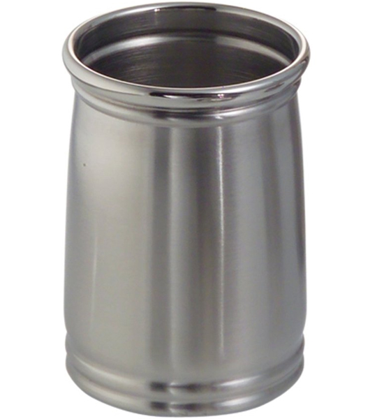 Cameo metal bathroom tumbler stainless steel in vanity for Bathroom tumbler