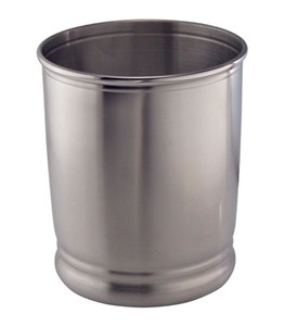 Cameo Metal Trash Can Stainless Steel In Bathroom Wastebaskets