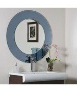 Camilla Modern Round Wall Mirror by Decor Wonderland