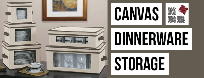 Canvas Dinnerware Storage