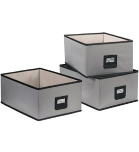 Canvas Bins (Set of 3) Image