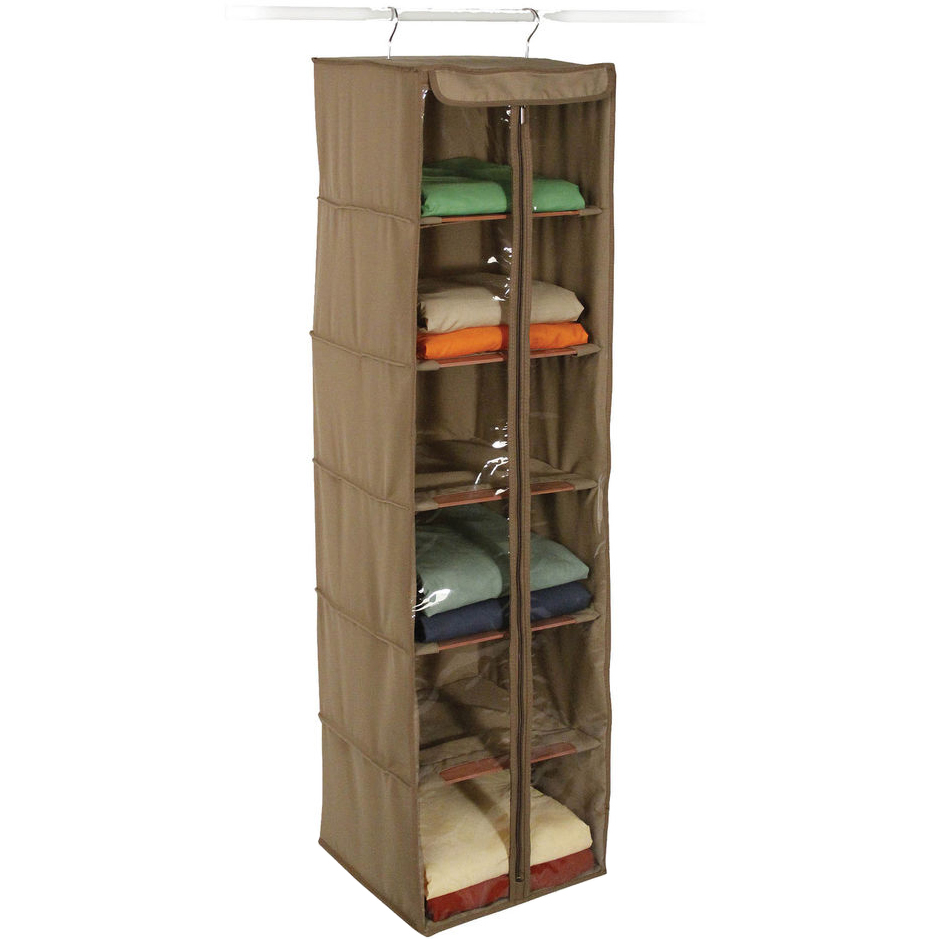 Extra Large Canvas Storage Box   Cedar, Canvas Hanging Closet Shelves    Cedar