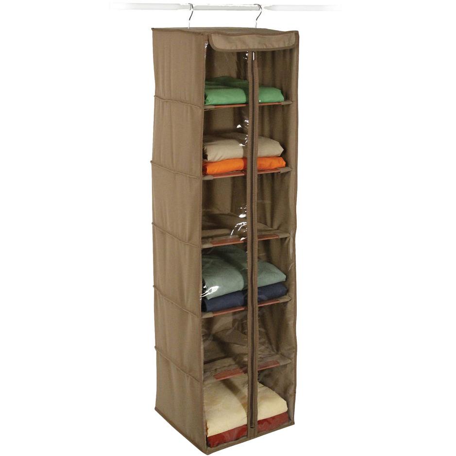 Organizer, Canvas Hanging Closet Shelves   Cedar U2026