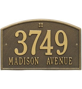 Cape Charles Address Plaque - Two-Line Image
