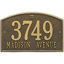 Cape Charles Address Plaque - Two-Line