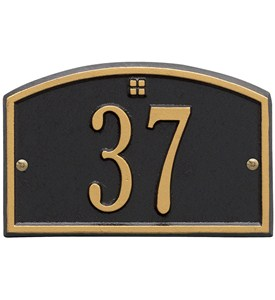 Cape Charles Entryway Home Address Plaque Image