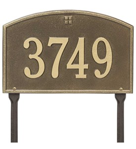 Cape Charles Lawn Address Plaque Image