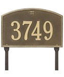 Cape Charles Lawn Address Plaque