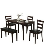 5 Piece Dining Set - Cappuccino