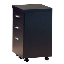 CAPPUCCINO HOLLOW-CORE FILE CABINET ON CASTORS BY MONARCH SPECIALTIES Image