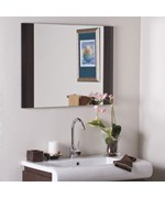 Cappuccino Wood Wall Mirror by Decor Wonderland