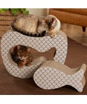 Cardboard Cat Scratcher - Fish Shaped