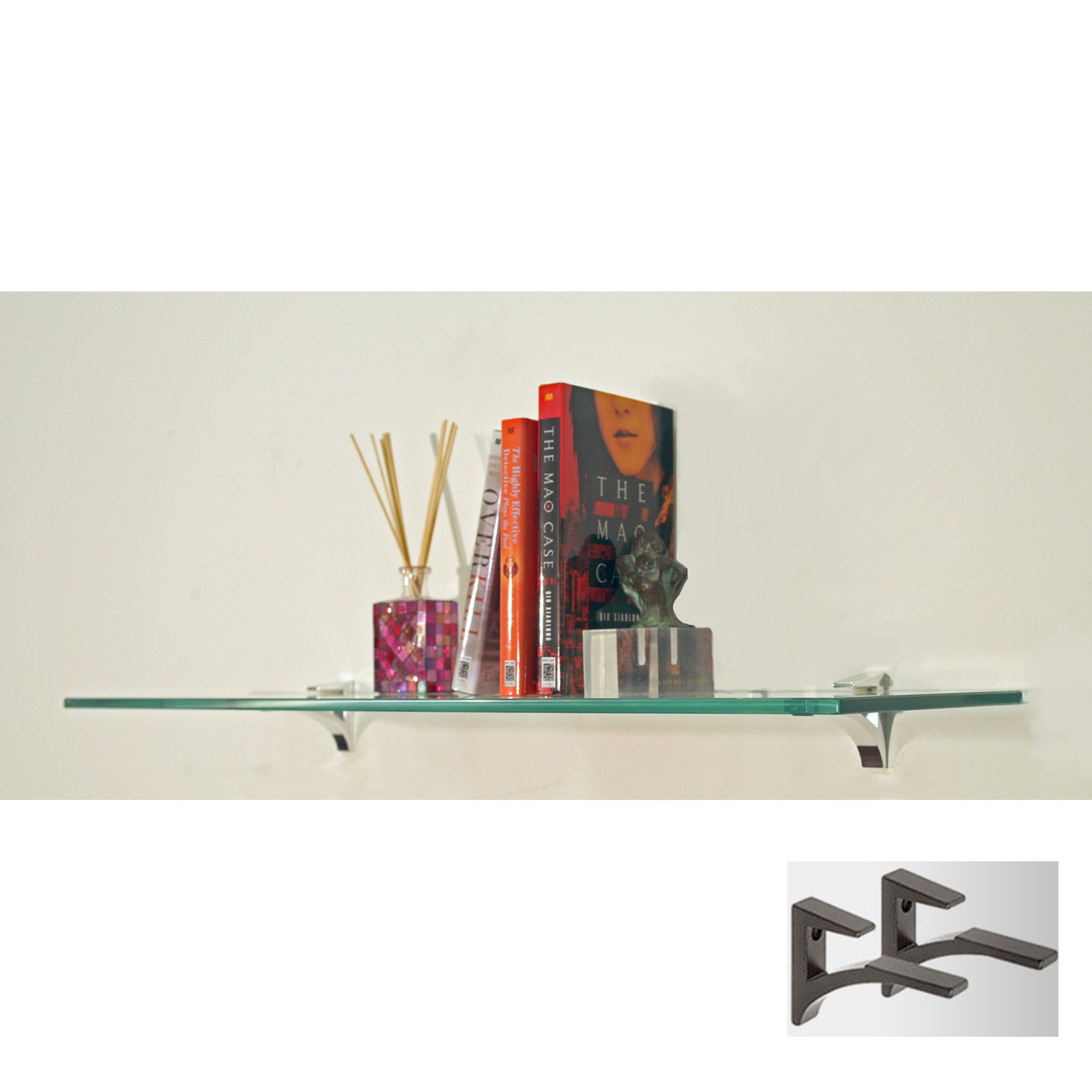 Awesome 12 Inch Wide Wall Shelf Part - 14: 12 Inch Cardinal Tempered Glass Shelf - Chrome Price: $61.99 - $94.99