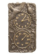 Cardinal Outdoor Thermometer and Clock