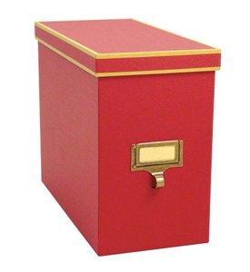 Cargo Atheneum File Storage Box - Red Image