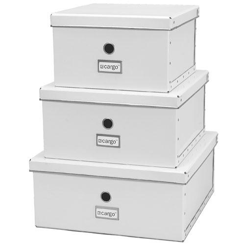 fiberboard shelf storage boxes set of 3 in fiberboard. Black Bedroom Furniture Sets. Home Design Ideas