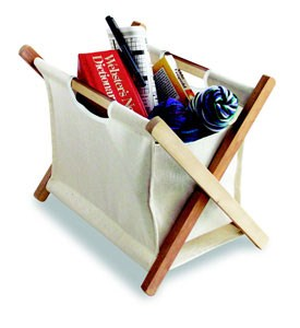 Canvas Catch-All Storage Basket Image