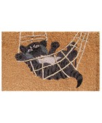 Decorative Coir Doormat - Playful Cat