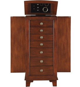 7 Drawer Locking Jewelry Armoire Image