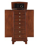 7 Drawer Locking Jewelry Armoire
