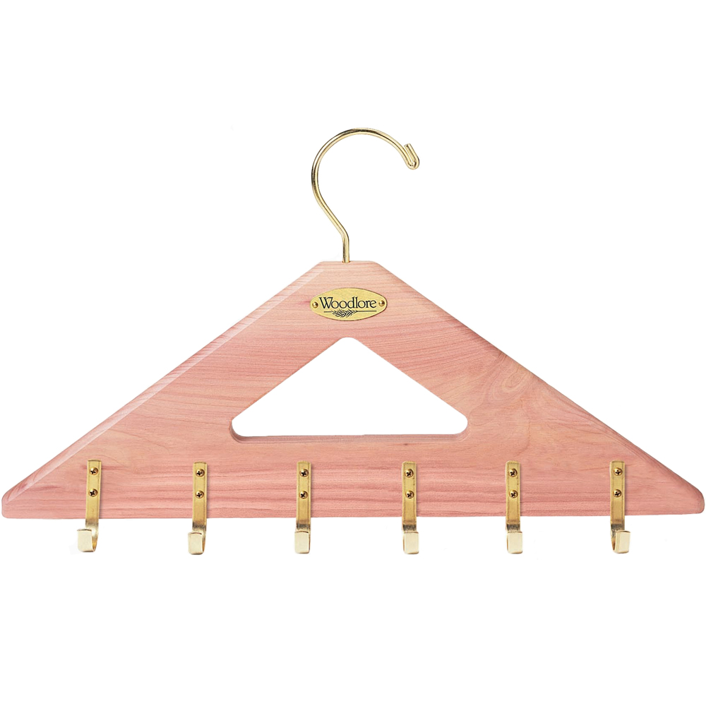 Cedar Belt Hanger in Tie and Belt Hangers