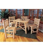 Cedar Dining Table - Matching Chairs by Rustic Natural Ceder