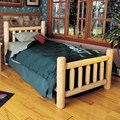 Cedar Log Bed by Rustic Natural Cedar