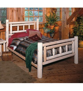 Deluxe Cedar Log Bed Frame in Beds and Headboards