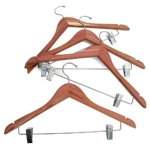 cedar wood hangers set of 4 price