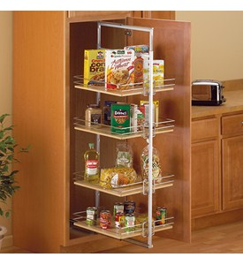 Center Mount Pantry Roll-Out System - Nickel Image