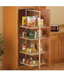 Center Mount Pantry Roll-Out System - Nickel