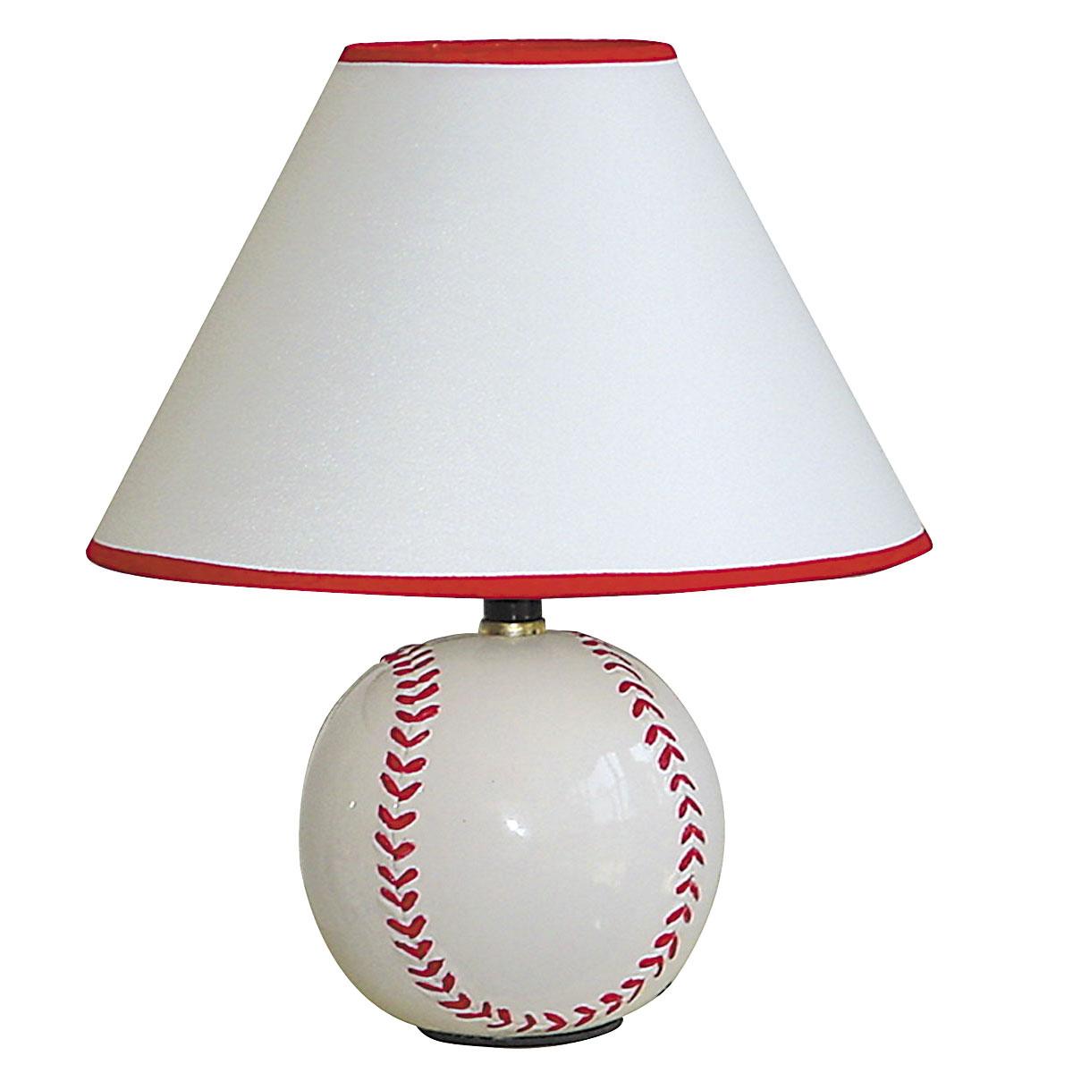 Ceramic Baseball Table Lamp In Kids Lamps