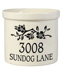Ceramic Crock - Dogwood - Address