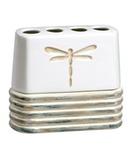 Ceramic Toothbrush Holder - Dragonfly