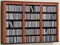 Wall-Mounted Media Storage - Triple