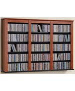 Triple Floating Media Storage - Cherry and Black