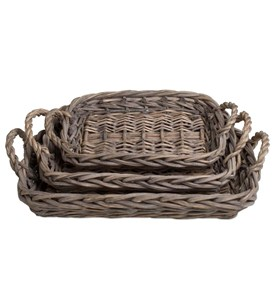 Wicker Serving Trays (Set of 3) Image