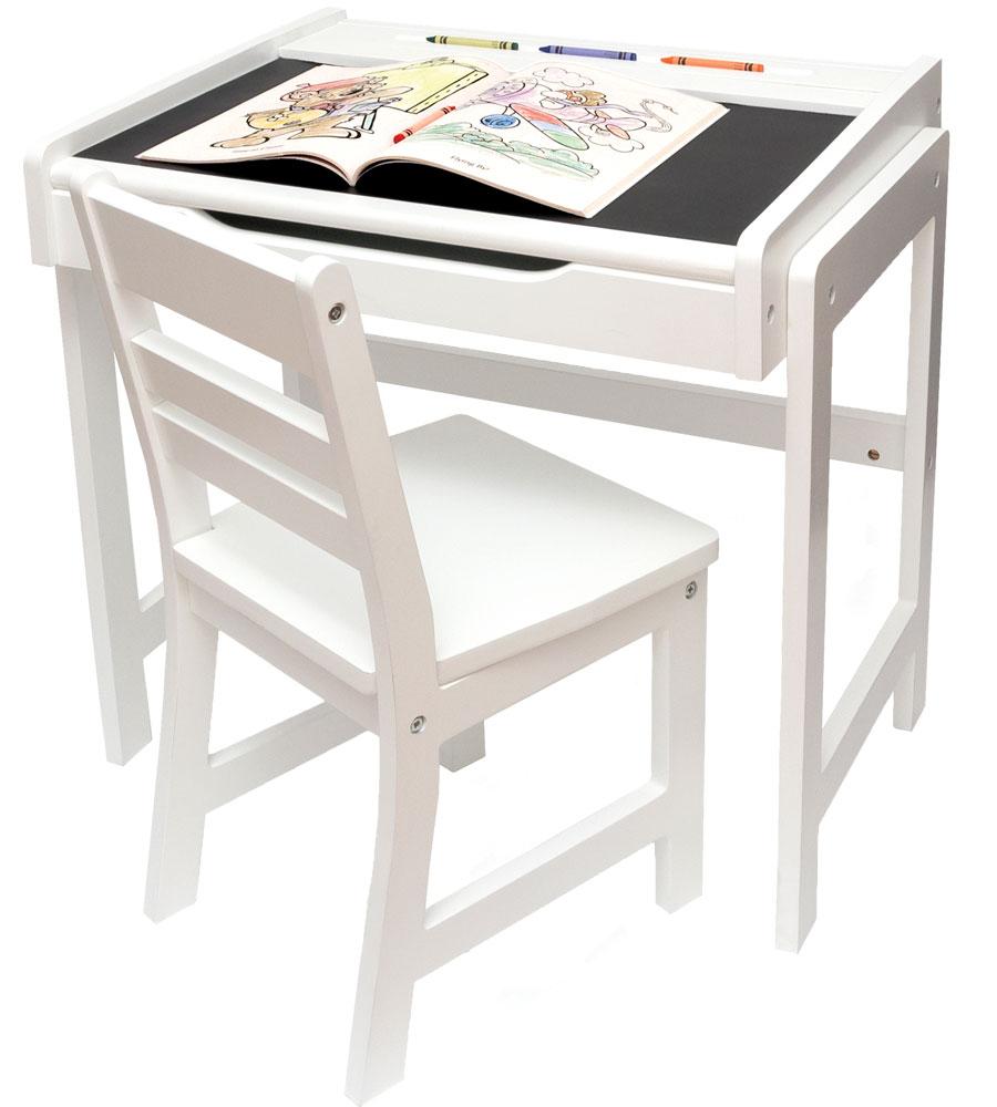 Chalkboard School Desk And Chair In Kids Desks